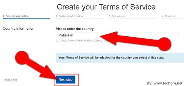image about how to create a website terms of service for your business