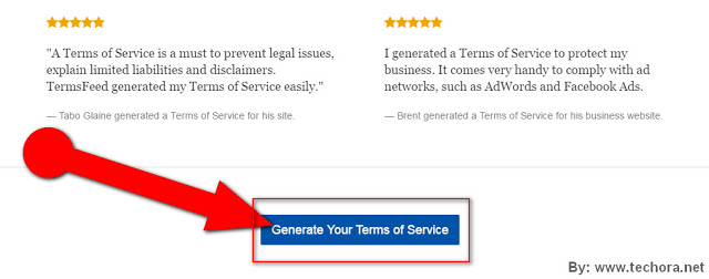 image about how to create a website terms of service page for your site