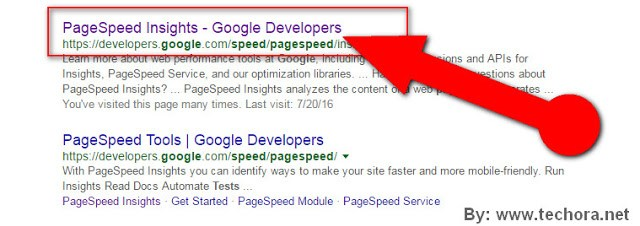 PageSpeed Insights By google to check website speed test and performance