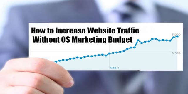 image : SEO tips to increase Blog / Website Traffic with 0$ Marketing Budget