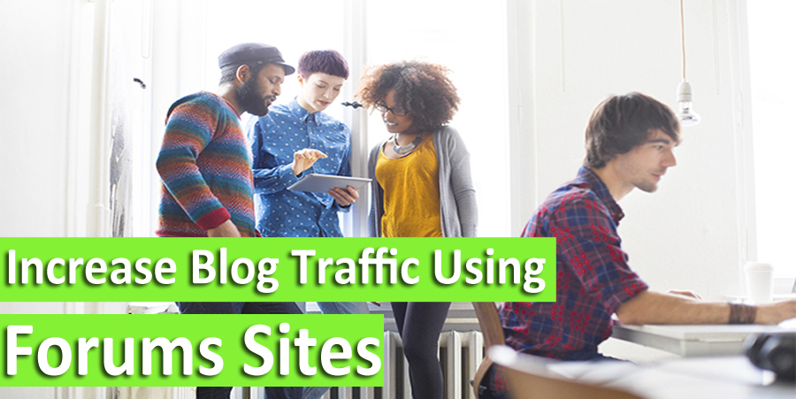 image of how to increase blog traffic using forums sites