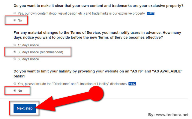image about how to create a website terms of service page for your website