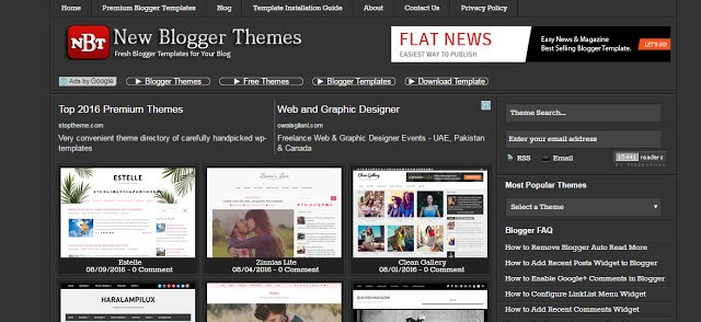newbloggerthemes the best website to download free blogger templates