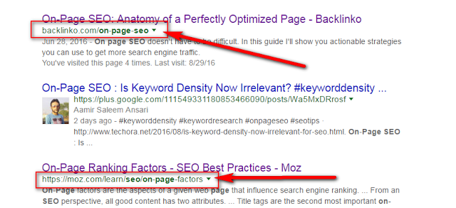 image : on page SEO factors to create seo friendly url / permalinks of blog posts