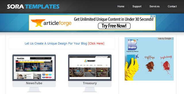 image of Soratemplates the best website to download free blogger templates