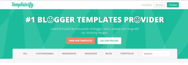 image of templateify the best site to download free blogger templates