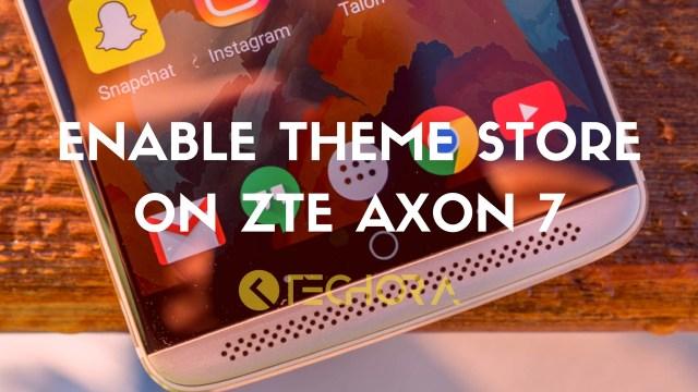 Theme Store on ZTE Axon 7