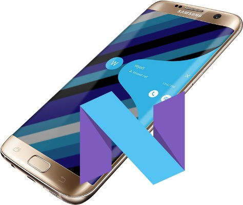 Android 7.0 Firmware on Galaxy S7 Edge SM-G935W8