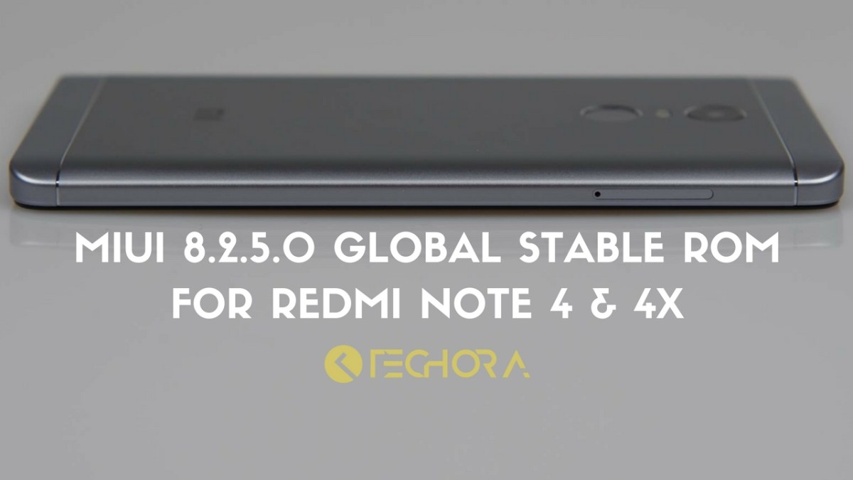 Download MIUI 8.2.5.0 Global Stable ROM for Redmi Note 4 & 4x