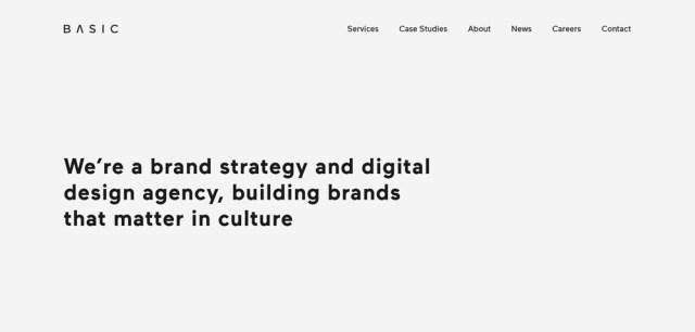 Use of whitespace- website design