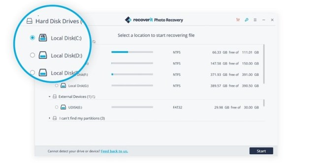select location to scan Learn Recoverit Photo Recovery Software, Never Lose Images Again