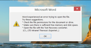 How to recover lost, corrupt word document, deleted files