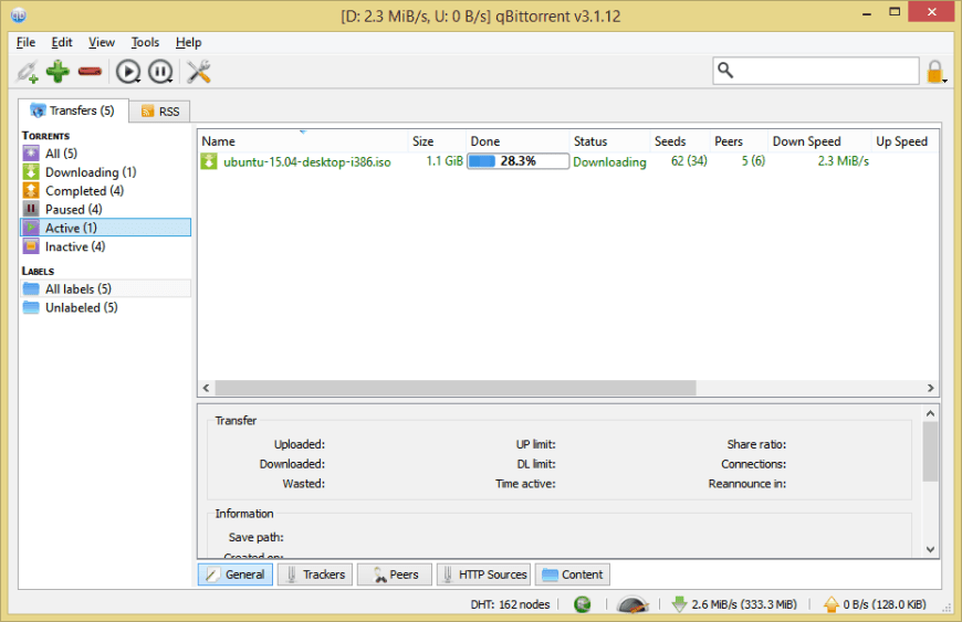 qBittorrent on Windows 8.1