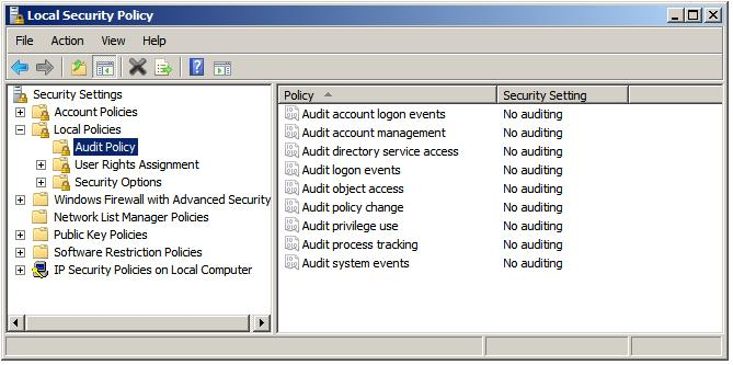 Configuring Local Audit Policy