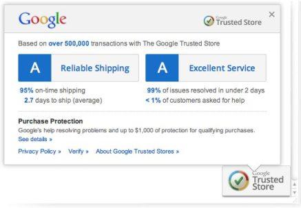Google Store Info Pop Up