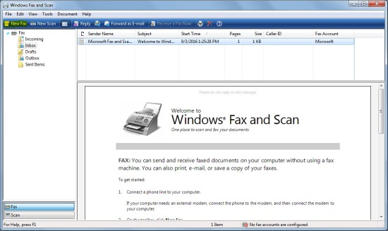 WindowsFaxandScan