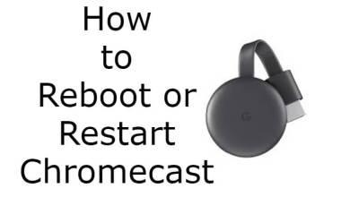 Restart Chromecast