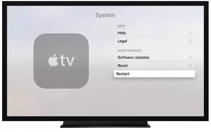Berriro hasi Apple TV