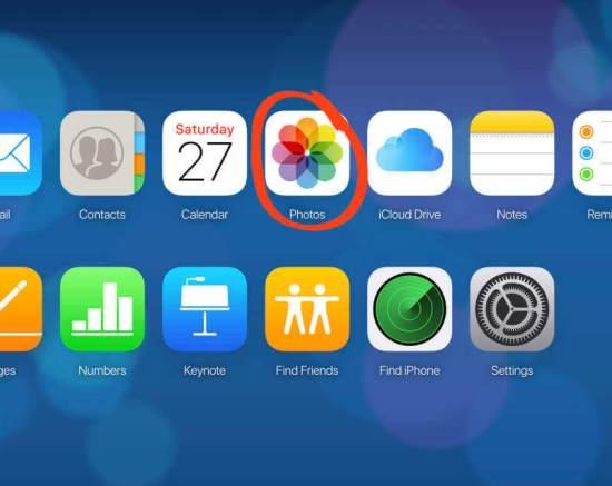 Select Photos icon