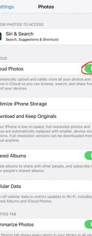 Select iCloud Photos