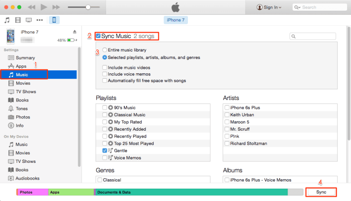Download Music from PC using iTunes