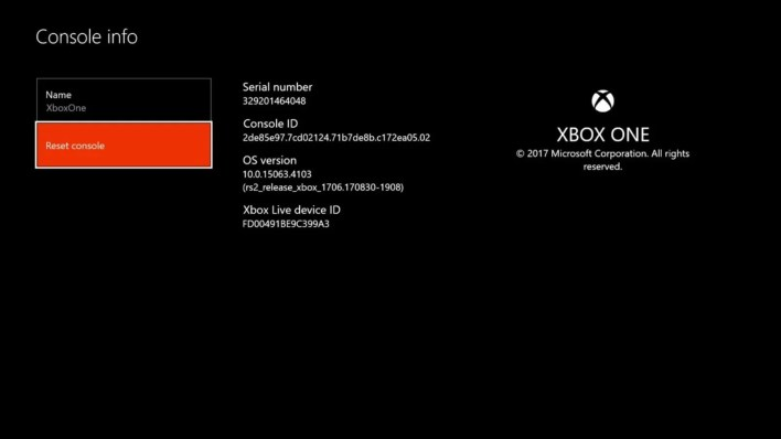 Factory Reset Xbox