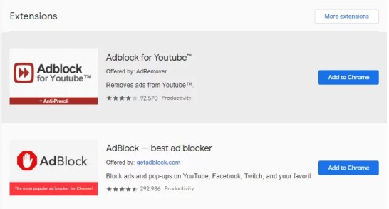 Block Ads on YouTube in Chrome