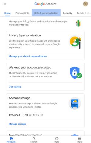 Click Data & personalization