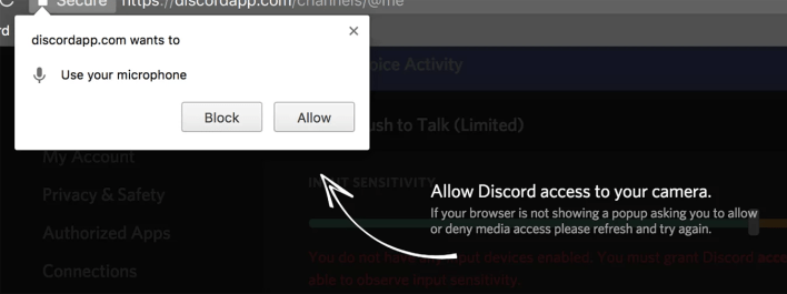 Click on Allow button