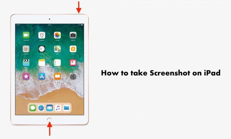 How to take Screenshot on iPad