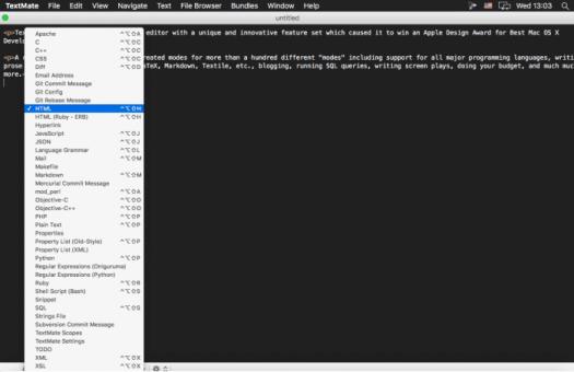 TextMate - Best Text Editor for Mac