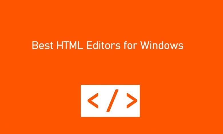 Best HTML editors for windows