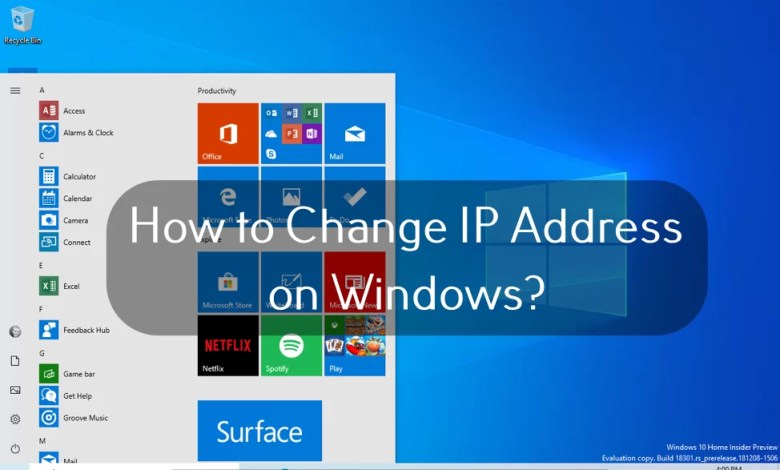 Change IP Address on Windows