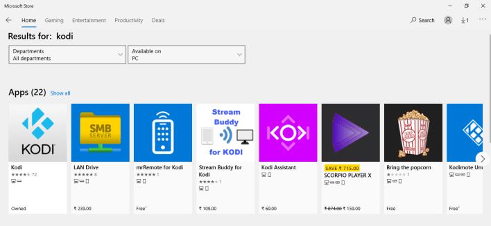 install Kodi on Xbox using the Microsoft Store