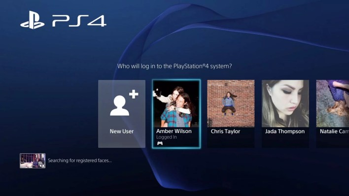 Select New user option on PlayStation