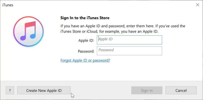 Sign in to iTunes with Apple ID