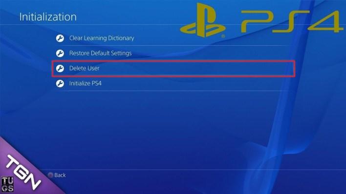 Delete PlayStation Account
