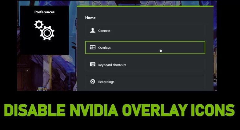 Disable NVIDIA Overlay Icons