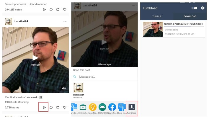 Download Tumblr Videos on Android