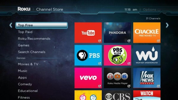 Highlight Search Channels: anime on roku