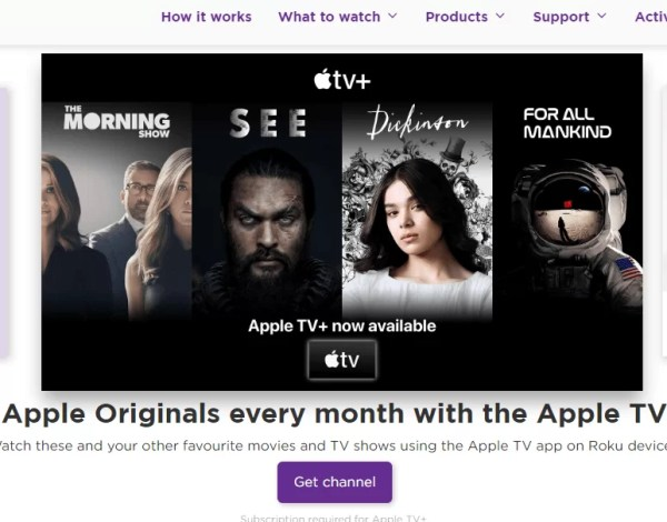 Select Sign In: add private channels to roku