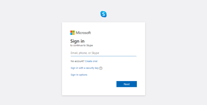 Sign into Skype