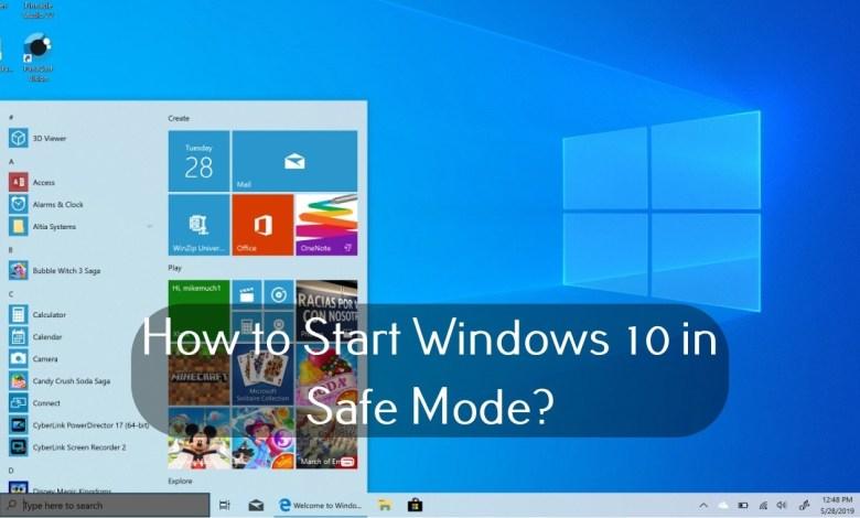 Windows 10 in Safe Mode