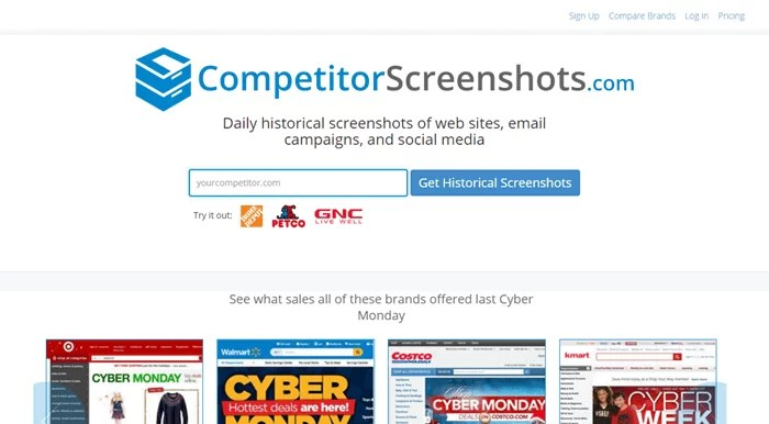 Competitor Screenshots - Best Wayback Machine (Internet Archive) Alternatives