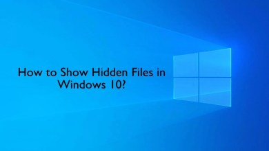 How to Show Hidden Files in Windows 10