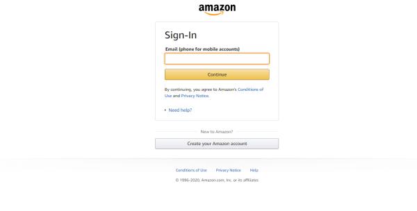 Saioa hasi Amazon Kontu-