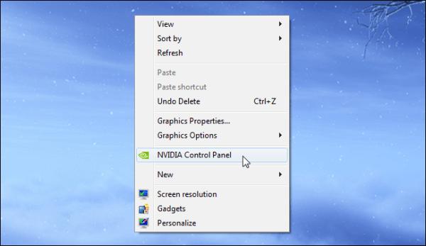 Select Nvidia Control Panel