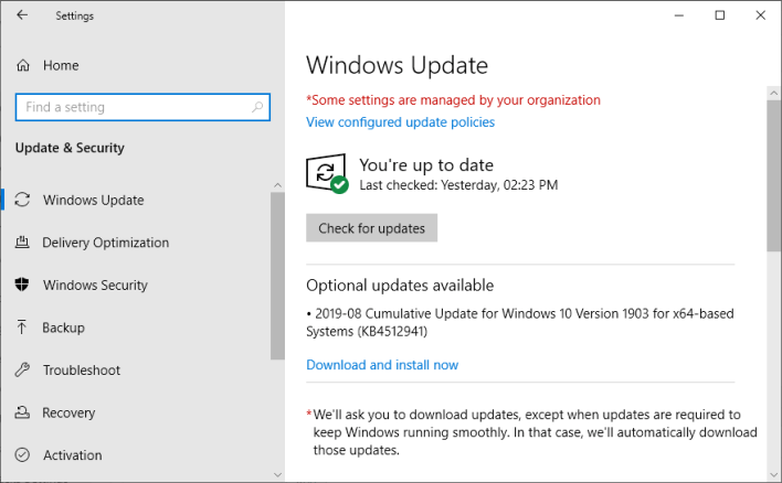 Update Drivers on Windows 10 using Windows Update