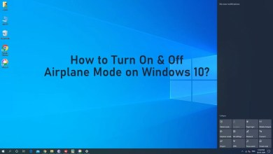 Airplane Mode on Windows 10