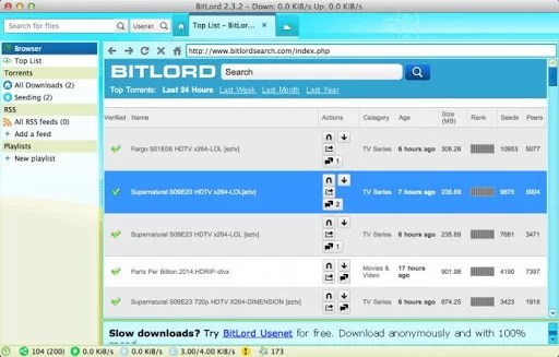BitLord - Best Torrent Clients for Mac